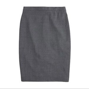 J. Crew Tollegno 1900 Stretch Wool Pencil Skirt 0P